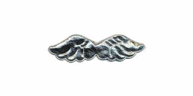 Applicatie glim vleugel zilver klein 45 x 15 mm (ca. 100 stuks)