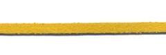 Imitatie suede veter okergeel 3 mm (ca. 10 m)