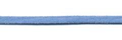 Imitatie suede veter jeans blauw 3 mm (ca. 10 m)