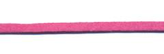 Imitatie suede veter knalroze 3 mm (ca. 10 m)