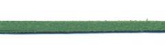 Imitatie suede veter grasgroen 3 mm (ca. 10 m)