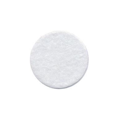 Vilten schijfje wit ca. 25 mm (ca. 100 stuks)