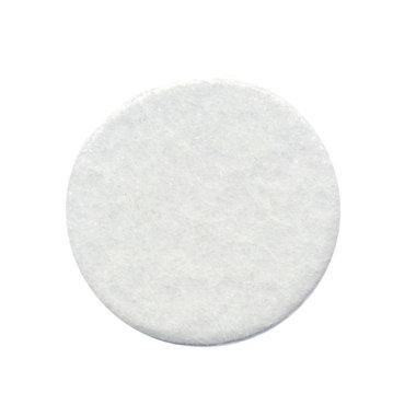 Vilten schijfje wit ca. 35 mm (ca. 100 stuks)