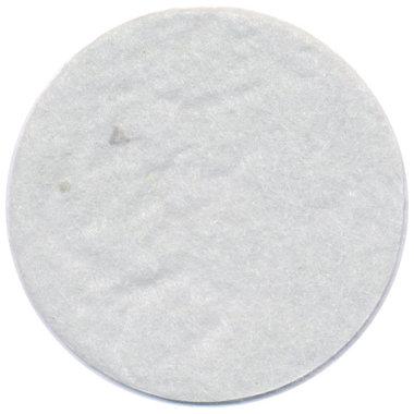 Vilten schijfje wit ca. 45 mm (ca. 100 stuks)