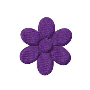 Applicatie bloem paars satijn effen middel 30 mm (ca. 100 stuks)