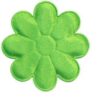 Applicatie bloem NEON groen satijn effen groot 50 mm (ca. 100 stuks)