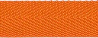 Oranje keperband 25 mm (ca. 45 m)
