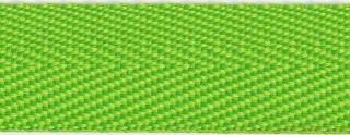 Gifgroen keperband 25 mm (ca. 45 m)