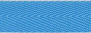 Licht blauw keperband 25 mm (ca. 45 m)