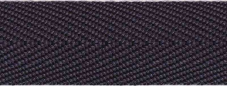 Donker blauw keperband 25 mm (ca. 45 m)