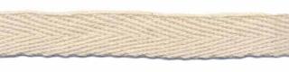 Ongebleekt KATOENEN keperband 10 mm (ca. 25 m)