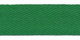 Grasgroen keperband 25 mm (ca. 45 m)