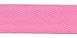 Roze keperband 25 mm (ca. 45 m)
