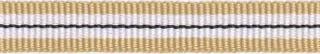 Zand-wit-zwart streep grosgrain/ribsband 10 mm (ca. 25 m)