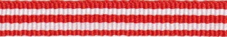 Rood-wit streep grosgrain/ribsband 10 mm (ca. 25 m)