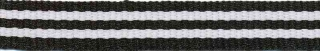 Zwart-wit streep grosgrain/ribsband 10 mm (ca. 25 m)