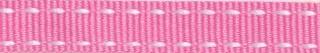 Roze-wit stippel grosgrain/ribsband 10 mm (ca. 25 m)