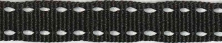Zwart-wit stippel grosgrain/ribsband 10 mm (ca. 25 m)