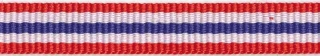 Rood-wit-blauw streep grosgrain/ribsband 10 mm (ca. 25 m)
