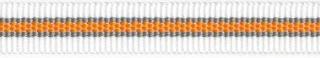 Wit-grijs-oranje streep grosgrain/ribsband 10 mm (ca. 25 m)