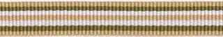 Zand-legergroen-wit streep grosgrain/ribsband 10 mm (ca. 25 m)