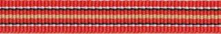 Rood-wit-zwart-zand streep grosgrain/ribsband 10 mm (ca. 25 m)