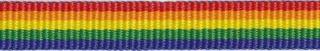 Regenboog grosgrain/ribsband rood-oranje-geel-groen-blauw 10 mm (ca. 25 m)