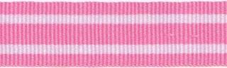 Roze-wit streepband 19 mm (ca. 45 m)