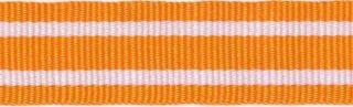 Oranje-wit streepband 19 mm (ca. 45 m)