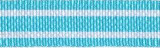 Licht blauw-wit streepband 19 mm (ca. 45 m)