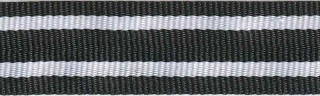 Zwart-wit streepband 19 mm (ca. 45 m)