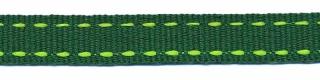 Donker groen-felgroen stippel grosgrain/ribsband 10 mm (ca. 25 m)