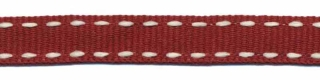 Cognac-creme stippel grosgrain/ribsband 10 mm (ca. 25 m)