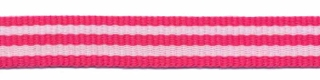 Fuchsia-wit streep grosgrain/ribsband 10 mm (ca. 25 m)