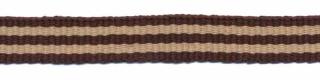 Bruin-zand streep grosgrain/ribsband 10 mm (ca. 25 m)