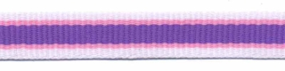 Wit-roze-paars streep grosgrain/ribsband 10 mm (ca. 25 m)