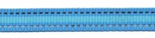 Blauw-zilver-aqua blauw streep grosgrain/ribsband 10 mm (ca. 45 m)