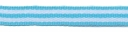 Aqua blauw-wit streep grosgrain/ribsband 10 mm (ca. 25 m)