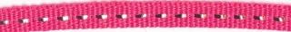Fuchsia band met zilverdraad 7 mm (ca. 25 m)