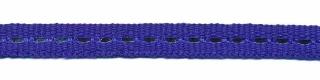 Kobalt blauw band met zilverdraad 7 mm (ca. 25 m)