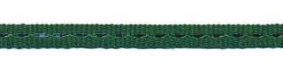 Donker groen band met zilverdraad 7 mm (ca. 25 m)