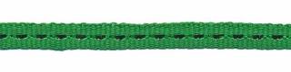 Groen band met zilverdraad 7 mm (ca. 25 m)