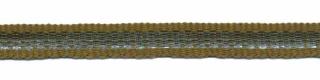 Legergroen-zilver grosgrain/ribsband 7 mm (ca. 25 m)