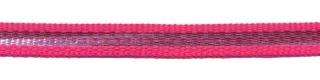 Fuchsia-zilver grosgrain/ribsband 7 mm (ca. 25 m)