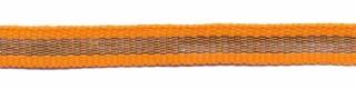 Oranje-zilver grosgrain/ribsband 7 mm (ca. 25 m)