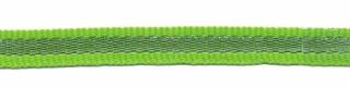 Gifgroen-zilver grosgrain/ribsband 7 mm (ca. 25 m)