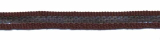Bruin-zilver grosgrain/ribsband 7 mm (ca. 25 m)