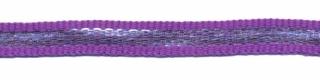 Paars-zilver grosgrain/ribsband 7 mm (ca. 25 m)