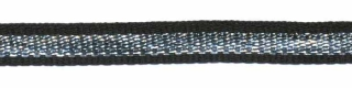 Zwart-zilver grosgrain/ribsband 7 mm (ca. 25 m)