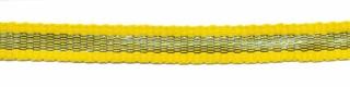 Geel-zilver grosgrain/ribsband 7 mm (ca. 25 m)